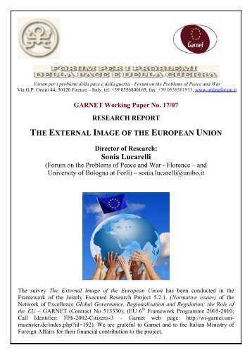 GARNET Working Paper No. 17/07