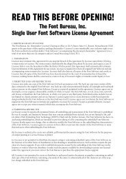 Font Bureau License