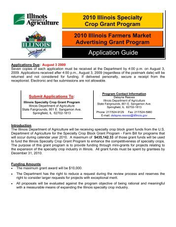 Application (pdf) - Illinois Department of Agriculture