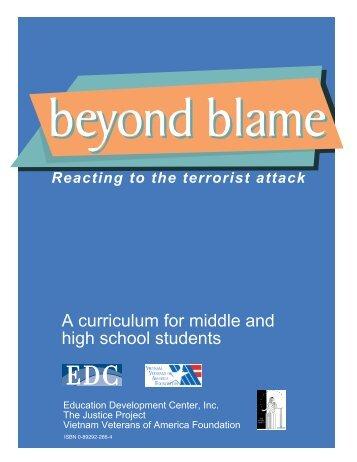 Beyond Blame 9/24FINAL - Education Development Center, Inc.