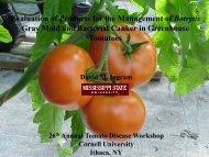 Presentation - Vegetable MD Online - Cornell University