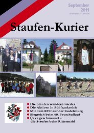 S taufen K U R I E R - TV Staufia
