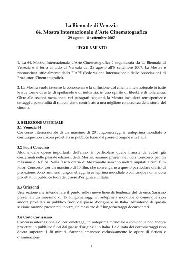 regolamento 64 ita - Venice Lido