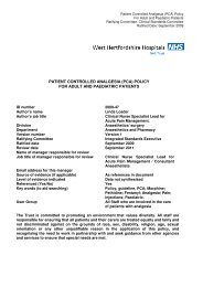 patient controlled analgesia (pca) policy for adult and - West ...