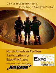 EXPOMINA '12 Sales Brochure - PDF - Kallman Worldwide Inc.