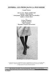 zephira. les pieds dans la poussiere - Theatre-contemporain.net