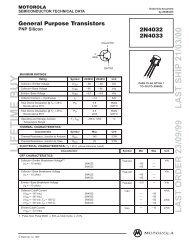 Motorola PNP Silicon Transistor 2N4033 - West Florida Components