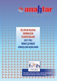 Kasım 2011 Sayı:275 - Verimlilik Genel Müdürlüğü - Bilim, Sanayi ve ...