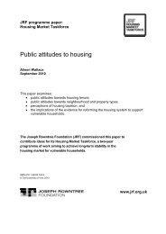 Public attitudes to housing