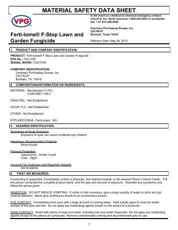 MSDS F Stop Lawn & Garden Fungicide (38 KB) - Fertilome