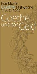 Programm Goethe Festwoche 2012 (pdf, 3.9 MB) - Frankfurt am Main