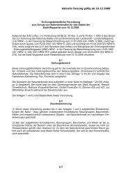 Verordnung zum Schutz von Naturdenkmalen - Stadt Wuppertal