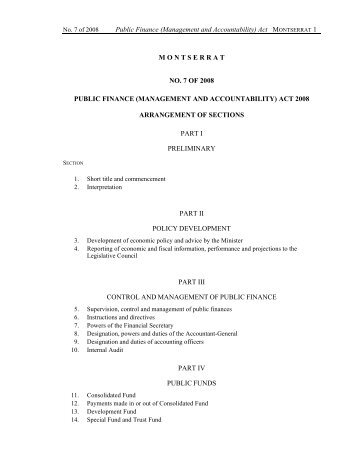 Public Finance (Management and Accountability) Act - Ministry of ...
