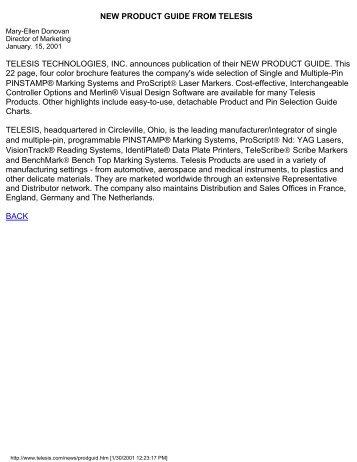 ProScript - Telesis Technologies, Inc.