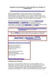 Medicatie en borstvoeding: verklarende lijst voor ... - Borstvoeding.com