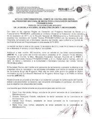 Acta de Conformación del Comité de Contraloría Social - Escuela ...