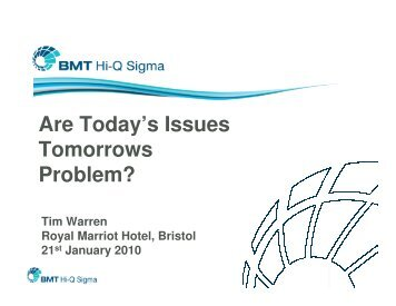 Are Today's Issues Tomorrows Problem? - Association for Project ...