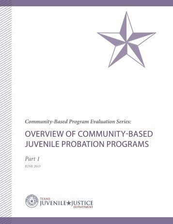 overview of community-based juvenile probation programs