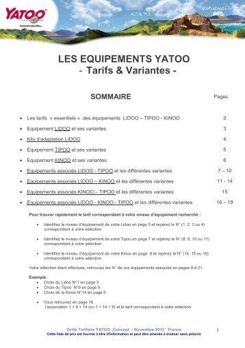 LIDOO Equipement COMPLET - Yatoo