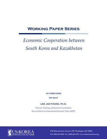 Economic Cooperation between South Korea and Kazakhstan