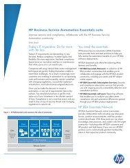 HP Business Service Automation Essentials suite - Zift Solutions
