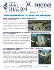 January - February 2011 - Temple Adat Shalom