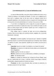 Los personajes en La casa de Bernarda Alba