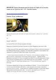 2012-07-07 Clarisse Desantoine parle du clocher de ... - Open kerken