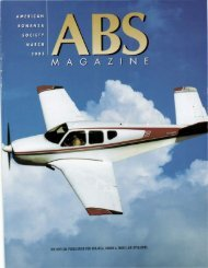 March 2003 - American Bonanza Society