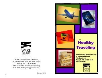 travel brochure 3-11 - Wake County Government