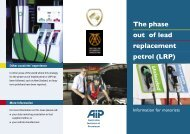 The phase out of lead replacement - Australian Automobile ...