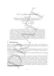 Is A−1 an infinitesimal generator?∗ - Applied Mathematics