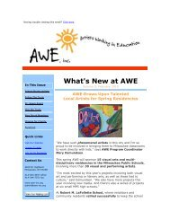 February E-News 2010 - Artists Working in Education