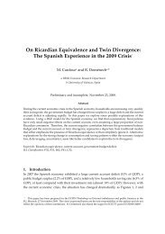 On Ricardian Equivalence and Twin Divergence: The Spanish ...