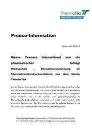 Infos - ThermoTex