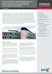 BT City of Edinburgh Case Study January 2011 - Hitachi Consulting