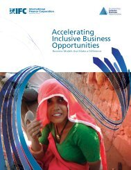 Accelerating Inclusive Business Opportunities - IFC