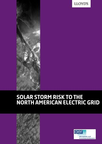 solar storm risk to the north american electric grid