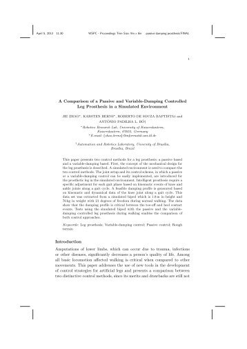 A Comparison of a Passive and Variable-Damping Controlled Leg ...