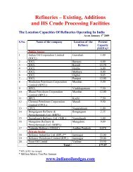 Refineries – Existing, Additions and HS Crude Processing ... - pptfun