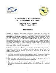 DELEGADAS DE LAS INSTITUCIONES POLICIALES - UPNFM