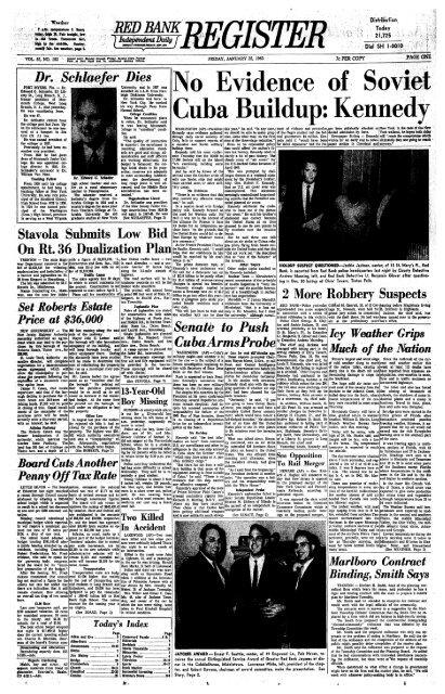 No Evidence Of Soviet Cuba Buildup Kennedy Red Bank Register
