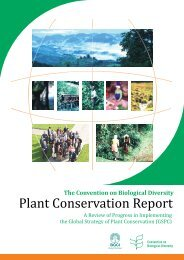 from the global partnership for plant conservation