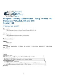 Footprint Overlay Specification using current VO Standards ... - IVOA