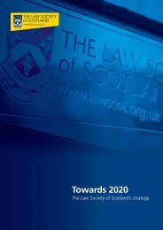 Towards 2020 - Law Society of Scotland