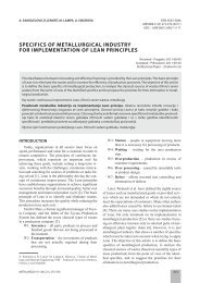 specifics of metallurgical industry for implementation of lean principles