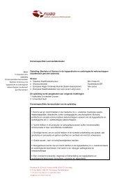 Bachelor of Science in de logopedische en audiologische ...