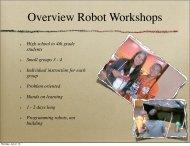 Teaching Materials: Robot Workshops Slides - Indiana University