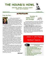 December 2012 - Aiken Gem, Mineral & Fossil Society