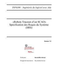 Spécification des Requis du Système - Cours - École Polytechnique ...